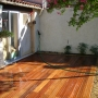 Terrasse en bois Teck graviers