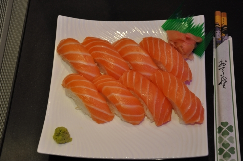 Menu Sushi au saumon