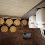 carrelage dans un caveau de vigneron