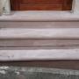 creation d'un escalier et habillage en grès rose