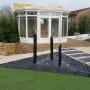veranda-terrasse-bois-jet-d-eau-gazon-synthétique-murey-paysager-jardin-pujaudran
