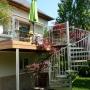 Extension de balcon en Aluminium, inox et bois