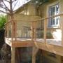Terrasse bois et verre
