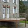 Terrasse autoportante bois et verre