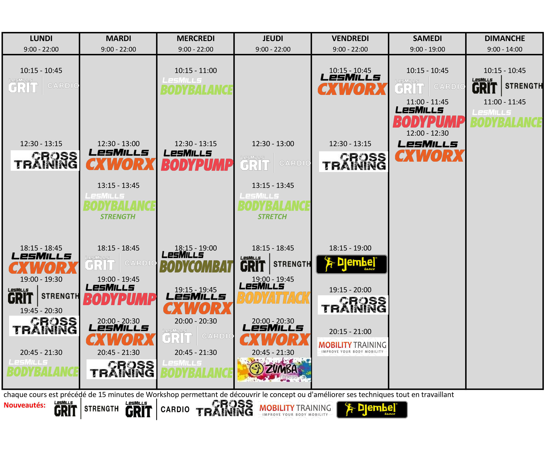 Planning janvier 2016