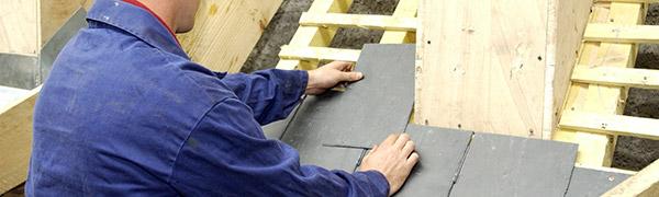 Installation toiture ardoise sur charpente bois