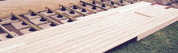 préparation d'installation de charpente bois