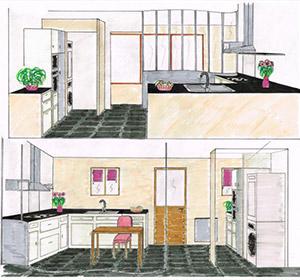 Maquette plans 3d am nagement int rieur sauxillanges for Maquette cuisine 3d