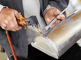 Réparation d'une gouttière