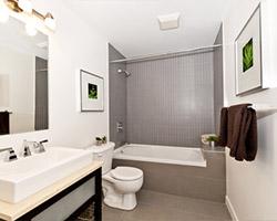 Une salle de bain rénovée