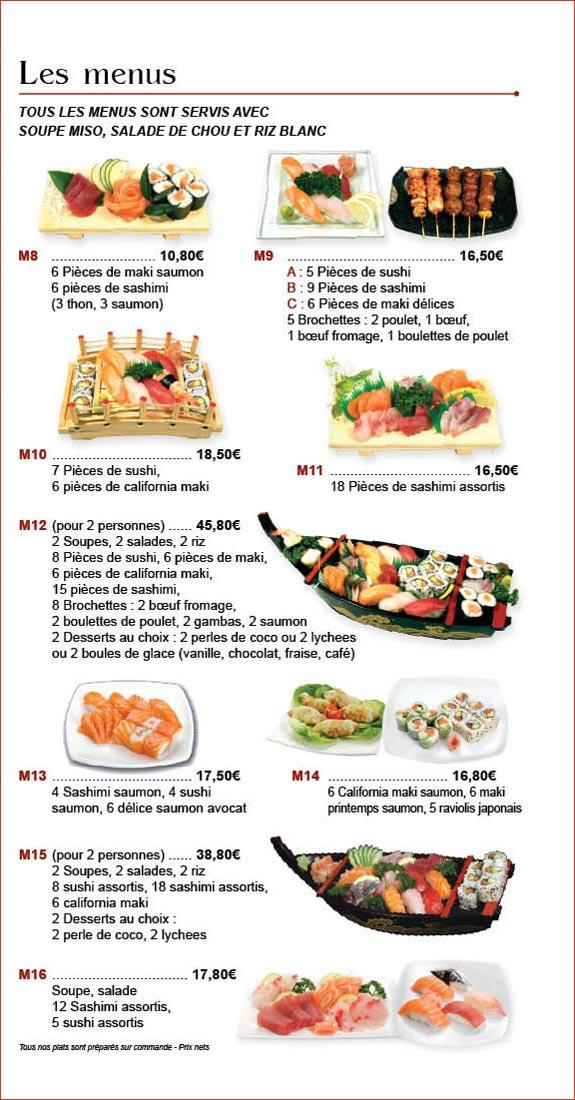 Restaurant japonais aux sp cialit s japonaises sushis for Restaurant japonais chef cuisine devant vous