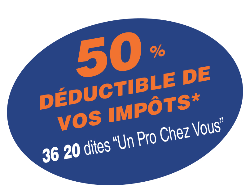 50% deductible sur impots