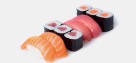Sushis, sashimis, california, soupe miso, riz, salade de choux, desserts typiques, plateau, notre carte comblera toutes vos envies