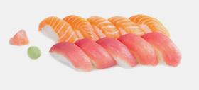 Menu les Sublimesi, plateau repas sushi saumon et thon chez Perle Sushis à Caluire