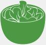 Salade de choux en accompagnement chez Perle Sushis à Caluire