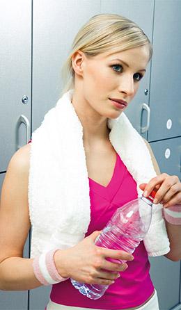 Femme après une séance de sport