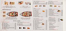 carte restaurant japonais et coréen yako