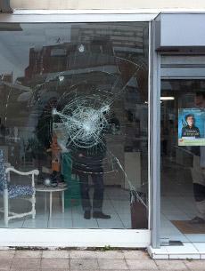 Effraction vitre cassée magasin