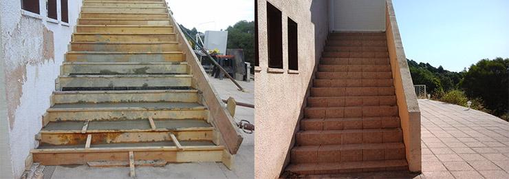 Construction d'un escalier extérieur